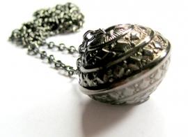 HL-0174 Ketting Black Silver Kogel