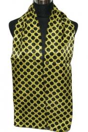 Shawltje Print Zwart/geel  S-0057