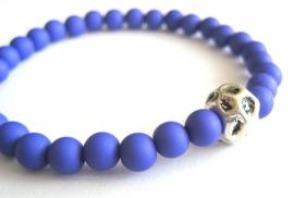 A-0498  Armbandje Jeansblauw