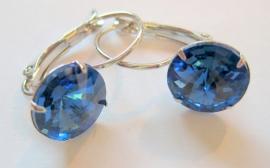 "OT-0014 Oorhangers ""Kristal"" Saffierblauw"