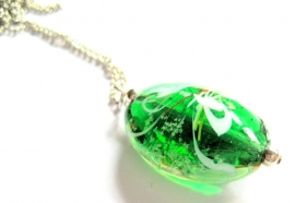 HL-0170 Ketting Italian Green & White