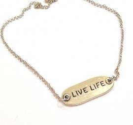 HK-0417 Ketting 'Live Life'