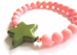 A-0392 Armband Groene Ster