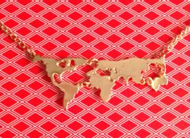 WL-0011 Ketting Wereld Goud