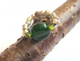 R-0092 Ring Groen zilver