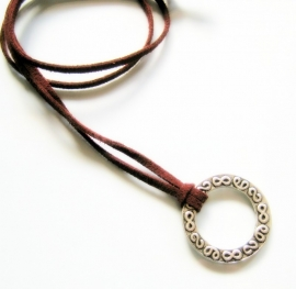 BK-0189 Brilketting Ring Wijnrood
