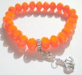 CA-0101M Basis Armband Oranje Facet