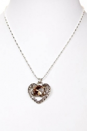 H-0084 Ketting Strass Hart