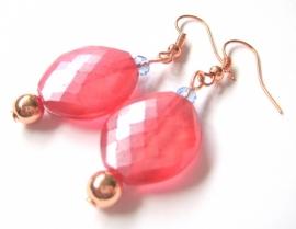 O-0457 Oorbellen Rose Pink