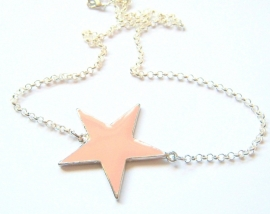 HK-0114 Ketting Ster Pink
