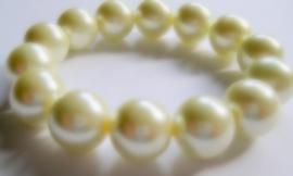 CA-0110XL Basis Armband Parel Crème