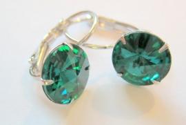 "OT-0015 Oorhangers ""Kristal"" Emerald"