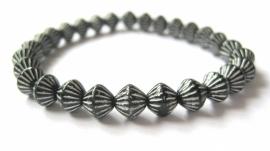 A-0523 Armbandje Zwart-Wit
