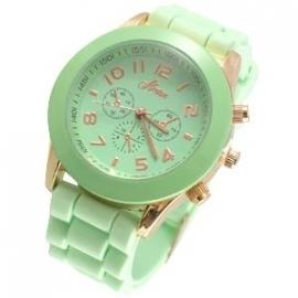 AH-0142 Horloge Softpastel Smaragd Groen - Rose Gold