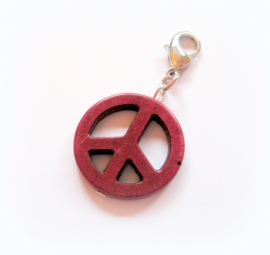 CH-0227X Charm Peace Bordeauxrood
