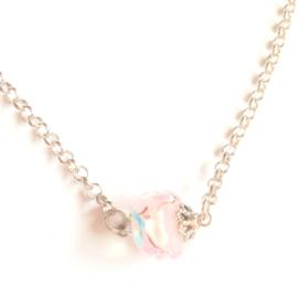 HK-0352 Ketting Murano Soft Pink