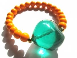 A-0372 Armband Oranje/Groen