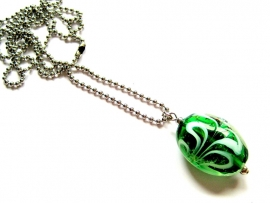 HL-0156 Ketting Italian Green & White