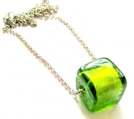 HK-0231 Ketting Groen Glashangertje