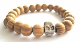 A-0524 Armband Hout Skull