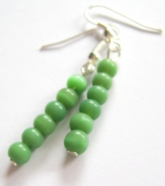 O-0434 Oorbellen Groen