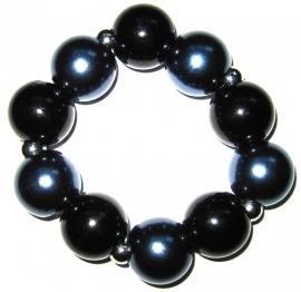 A-0140  Armband Winterblauwzwart