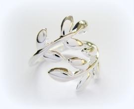 R-0122 Ring Blad Zilver