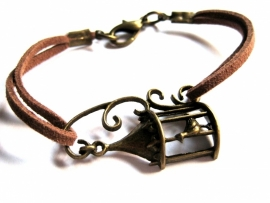 A-0422 Armband Brons/ Donkerbruin