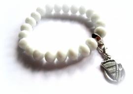 A-0493  Armbandje Wit Taart