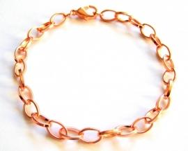 A-0343  Armband Schakel Rosé