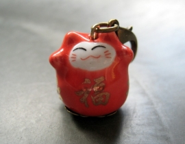 CG-0017X Lucky Cat Red/bronze