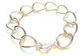 CA-0084 Armband Schakel Zilver