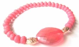 A-0510  Armbandje Rosé-roze