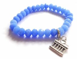 A-0507  Armband Grieks Blauw
