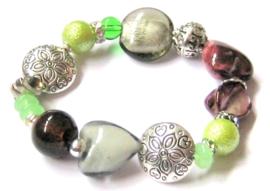 A-0226  Armband Groen Grijs