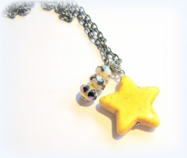HK-0293 Ketting Star Yellow
