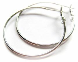 OR-0120 Oorringen Zilver 3,5 cm