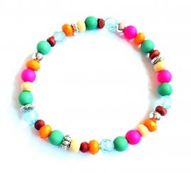 A-0565 Armbandje Kleurtjes