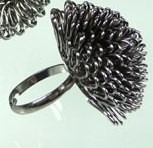 R-0024  Blacksilver Ring