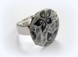 R-0114 Ring Flower Art