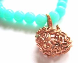 A-0526 Armband Mint Rosé