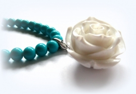 HK-0294 Ketting White Rose