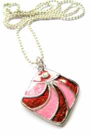 HK-0125 Ketting Red&Pink