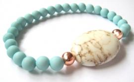 A-0443 Armbandje Aqua Pastel