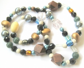 H-0017 Ketting Hout & Blauw