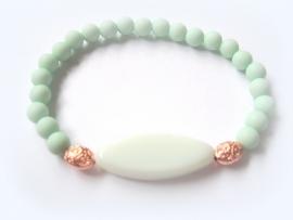 A-0442 Armbandje Mint Pastel