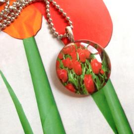 HK-0213 Ketting Glashanger Tulpen
