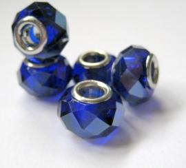 PG-0235 Kraal Blauw kristal facet