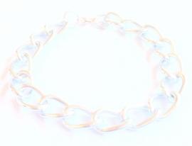 AB-0018 Armband grove schakel