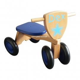 Houten Loopfiets met naam Dex